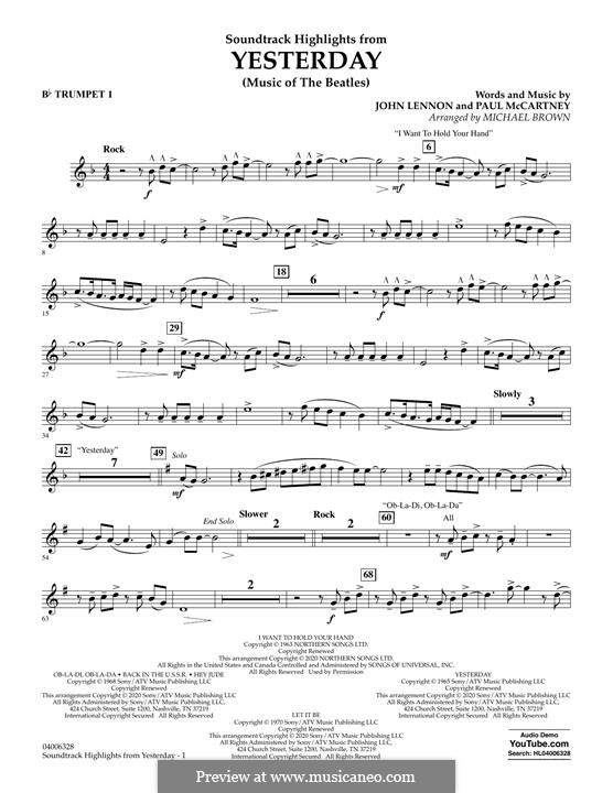 Highlights from Yesterday (Music of The Beatles): Bb Trumpet 1 part by John Lennon, Paul McCartney