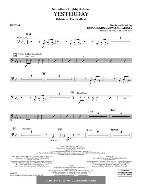 Highlights from Yesterday (Music of The Beatles): Paukenstimme by John Lennon, Paul McCartney