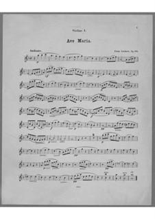 Ave Maria für Stimme, Chor, Streicher und Orgel (oder Harmonium), Op.162: Violinstimme I by Franz Paul Lachner