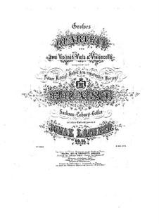 Streichquartett Nr.2 in G-Dur, Op.51: Stimmen by Ignaz Lachner
