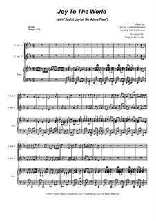 Joy To The World (with 'Joyful, Joyful, We Adore Thee'): Duet for C-instruments by Georg Friedrich Händel, Ludwig van Beethoven