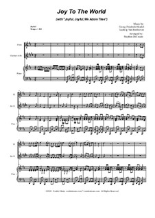 Joy To The World (with 'Joyful, Joyful, We Adore Thee'): Duet for Flute and Bb-Clarinet by Georg Friedrich Händel, Ludwig van Beethoven