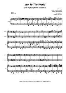 Joy To The World (with 'Joyful, Joyful, We Adore Thee'): Duet for Soprano and Tenor Saxophone by Georg Friedrich Händel, Ludwig van Beethoven