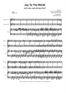 Joy To The World (with 'Joyful, Joyful, We Adore Thee'): Duet for Bb-Trumpet by Georg Friedrich Händel, Ludwig van Beethoven