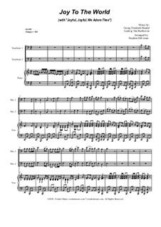 Joy To The World (with 'Joyful, Joyful, We Adore Thee'): Trombone Duet by Georg Friedrich Händel, Ludwig van Beethoven