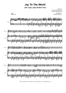 Joy To The World (with 'Joyful, Joyful, We Adore Thee'): For Bb-Trumpet solo and Piano by Georg Friedrich Händel, Ludwig van Beethoven