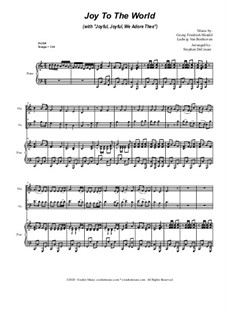 Joy To The World (with 'Joyful, Joyful, We Adore Thee'): Duet for Violin and Cello by Georg Friedrich Händel, Ludwig van Beethoven