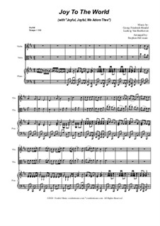Joy To The World (with 'Joyful, Joyful, We Adore Thee'): Duet for Violin and Viola by Georg Friedrich Händel, Ludwig van Beethoven