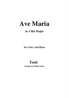 Ave Maria: A flat Major by Francesco Paolo Tosti