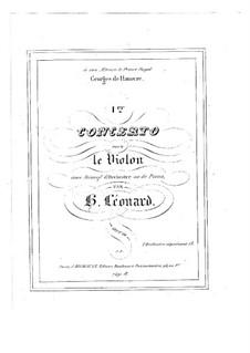Konzert für Violine und Orchester in E-Dur, Op.10 No.1: Bearbeitung für Violine und Klavier – Solostimme by Hubert Léonard