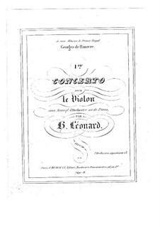 Konzert für Violine und Orchester in E-Dur, Op.10 No.1: Bearbeitung für Violine und Klavier by Hubert Léonard