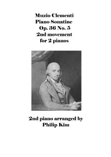 Sonatine Nr.5: For two pianos four hands – movement II by Muzio Clementi