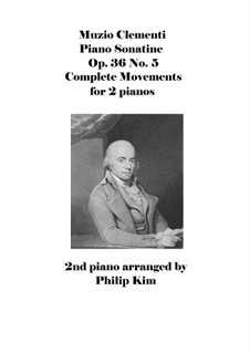 Sonatine Nr.5: Für zwei Klaviere, vierhändig by Muzio Clementi