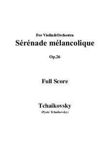 Melancholische Serenade, TH 56 Op.26: Vollpartitur, Stimmen by Pjotr Tschaikowski