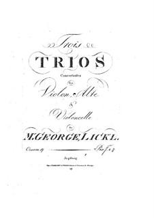 Drei Streichtrios, Op.17: Violinstimme by Johann Georg Lickl