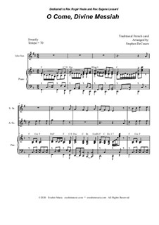 O Come, Divine Messiah: Duet for Soprano and Alto Saxophone by folklore
