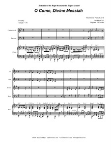 O Come, Divine Messiah: For Woodwind Quartet and Piano by folklore