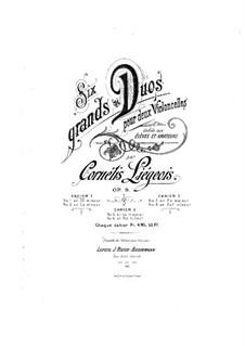 Sechs Duos für zwei Cellos, Op.9: Duo Nr.1 - Cellostimme I by Cornélis Liégeois