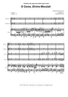 O Come, Divine Messiah: For Brass Quartet and Piano - Alternate Version by folklore
