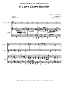O Come, Divine Messiah: Duet for Bb-Trumpet by folklore