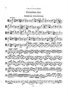 Sechs Duos für zwei Cellos, Op.9: Duo Nr.2 - Cellostimme I by Cornélis Liégeois