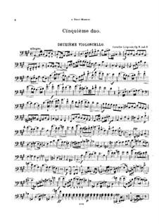 Sechs Duos für zwei Cellos, Op.9: Duo Nr.5 - Cellostimme II by Cornélis Liégeois