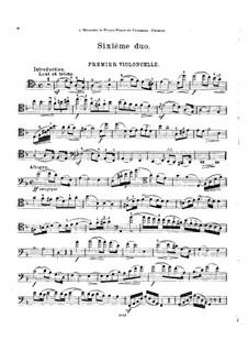 Sechs Duos für zwei Cellos, Op.9: Duo Nr.6 - Cellostimme I by Cornélis Liégeois