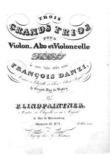 Drei Streichtrios, Op.52: Trio Nr.1 in D-Dur – Violinstimme by Peter Josef von Lindpainter