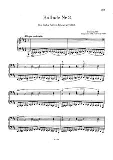 Ballade Nr.2 in h-Moll, S.171: Erste Fassung by Franz Liszt