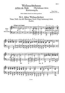 Weihnachtsbaum, S.185a: Für Klavier (oder Harmonium) by Franz Liszt