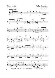 Вальс осени, Ор.34 No.6: Вальс осени by Oleg Kopenkov