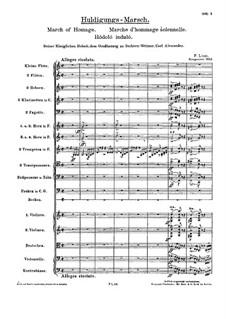 Huldigungsmarsch, S.228: Huldigungsmarsch by Franz Liszt