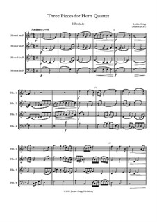 Three Pieces for Horn Quartet: Three Pieces for Horn Quartet by Jordan Grigg