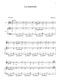 La Marmotte: Version for voice and piano by Ludwig van Beethoven