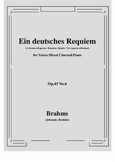 Ein deutsches Requiem, Op.45: Movement VI by Johannes Brahms