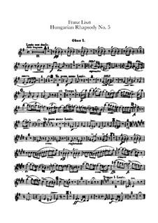 Nr.5 in e-Moll, für Orchester, S.621/5: Oboenstimmen I-II by Franz Liszt