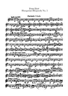 Nr.5 in e-Moll, für Orchester, S.621/5: Klarinettenstimmen I-II by Franz Liszt
