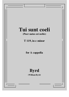 Tui sunt coeli: E minor by William Byrd