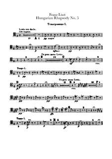 Nr.5 in e-Moll, für Orchester, S.621/5: Posaunenstimmen by Franz Liszt