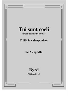 Tui sunt coeli: C sharp minor by William Byrd