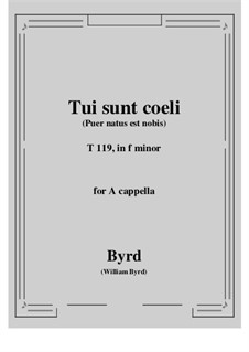 Tui sunt coeli: F minor by William Byrd