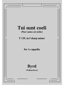 Tui sunt coeli: F sharp minor by William Byrd
