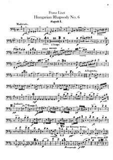 Nr.9 in Es-Dur, für Orchester, S.359/6: Fagottenstimmen I-II by Franz Liszt