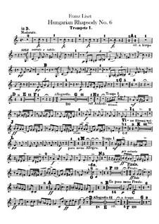 Nr.9 in Es-Dur, für Orchester, S.359/6: Trompetenstimmen I-II by Franz Liszt