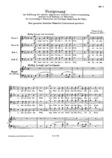 Festgesang, S.26: Festgesang by Franz Liszt