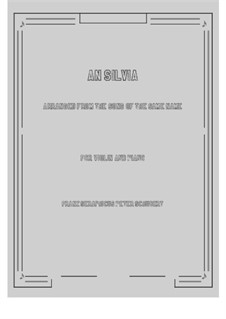 An Sylvia, D.891 Op.106 No.4: Für Violine und Klavier by Franz Schubert