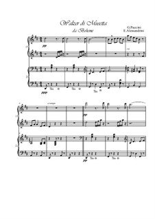 Walzer di Musetta: Für Klavier, vierhändig by Giacomo Puccini