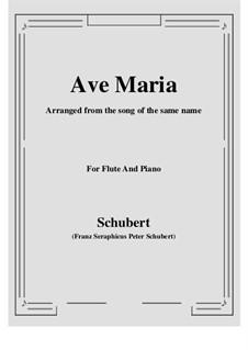 Ave Maria, D.839 Op.52 No.6: Für Flöte und Piano by Franz Schubert