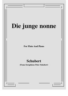 Die junge Nonne, D.828 Op.43 No.1: Für Flöte und Piano by Franz Schubert