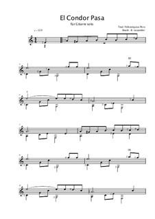 El Condor Pasa: Für Gitarre by folklore
